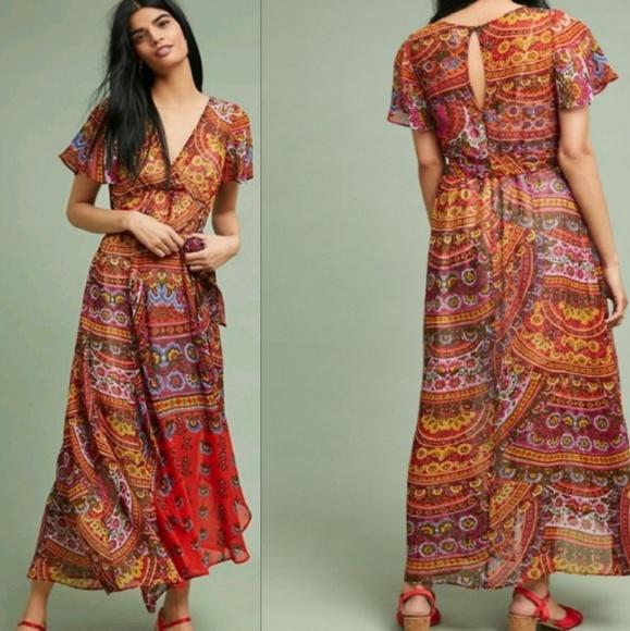 15096bd0894ca Anthropologie Dresses   Sale Anthro 8murol Wrapped Maxi Dress   Poshmark